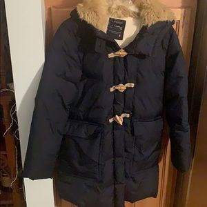 Crew Cuts Navy Down Toggle Winter Coat size 16